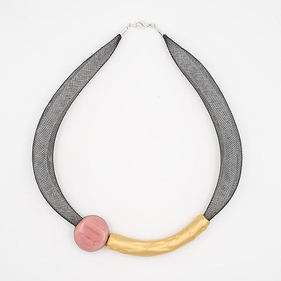 collar barroque rosa dorado desde arriba