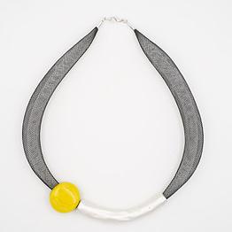 collar barroque amarillo plateado de arriba