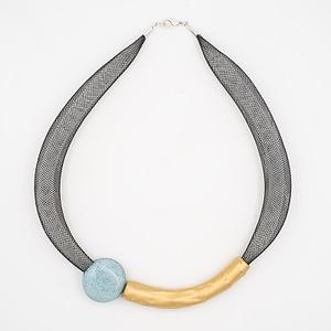 collar barroque azul claro dorado de arriba