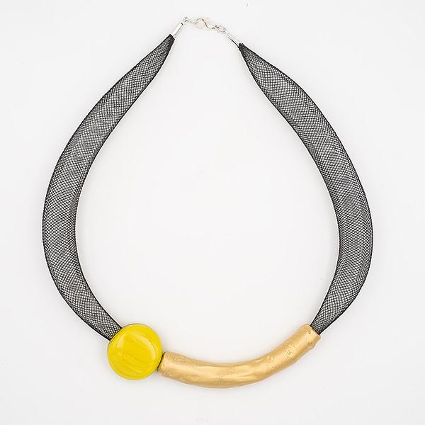 collar barroque amarillo dorado de arriba