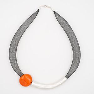 collar barroque naranja plateado de arriba